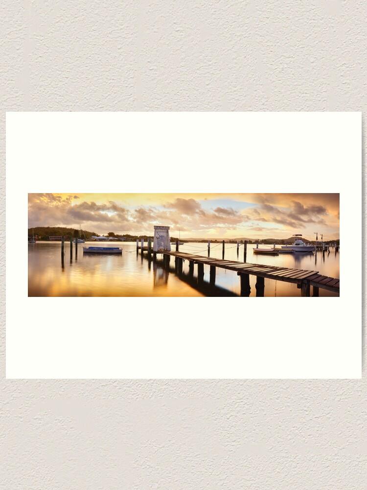 Alternate view of Davistown Jetty, New South Wales, Australia Art Print