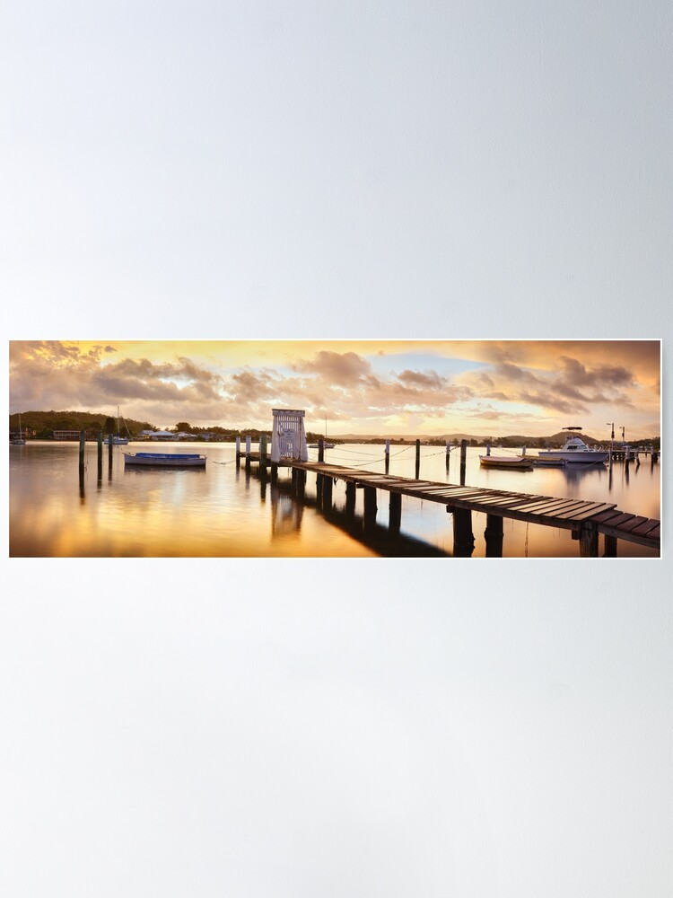 Alternate view of Davistown Jetty, New South Wales, Australia Poster