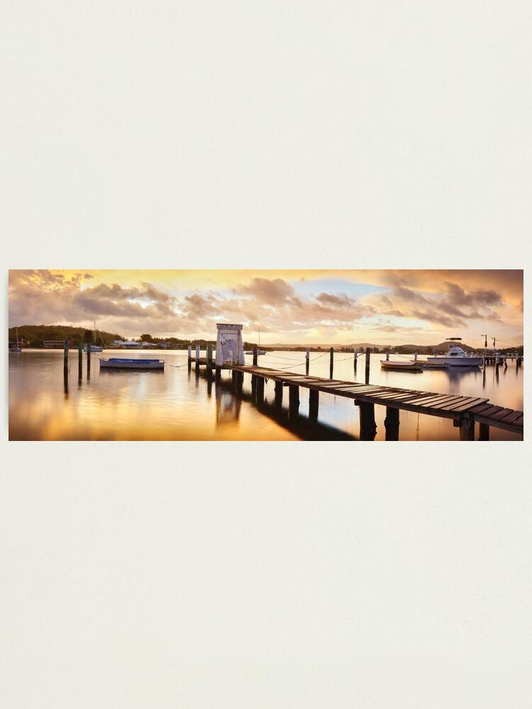 Alternate view of Davistown Jetty, New South Wales, Australia Photographic Print