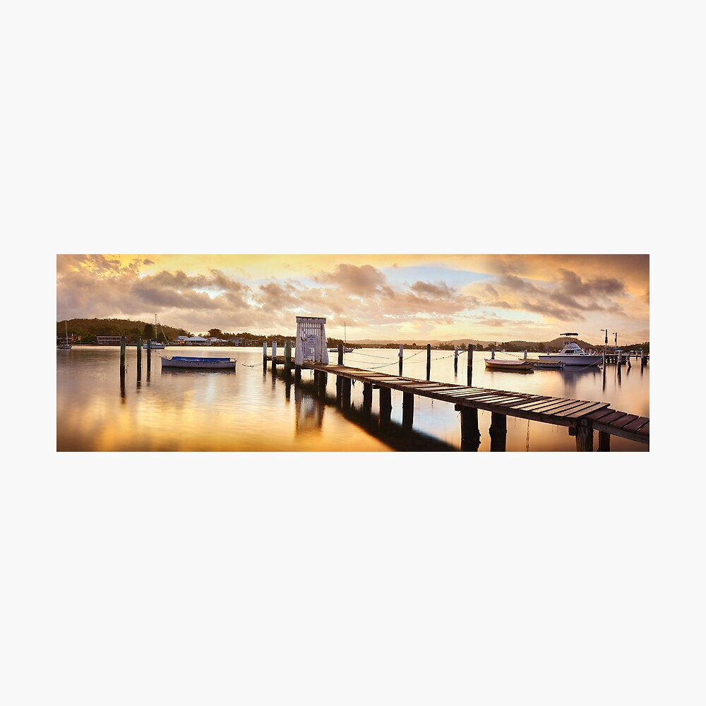 Davistown Jetty, New South Wales, Australia Photographic Print