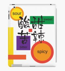 sour, sweet, bitter and spicy iPad Case/Skin