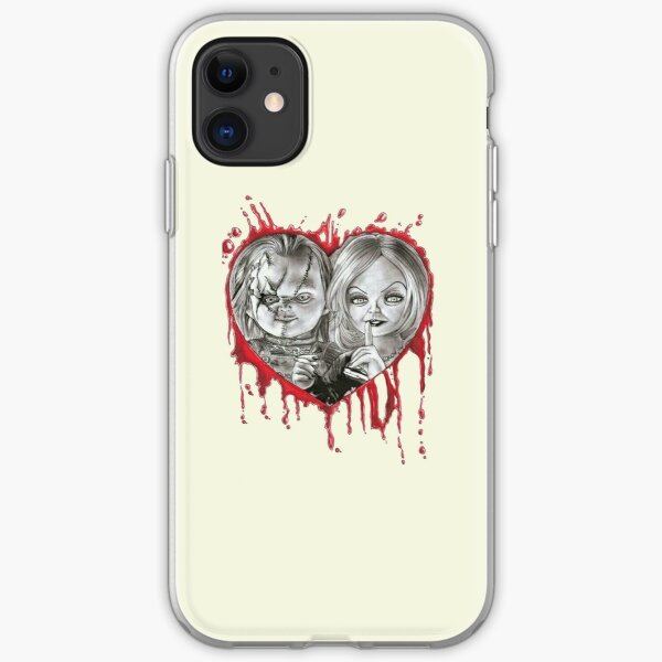 chucky and tiffany valentine's iPhone Soft Case