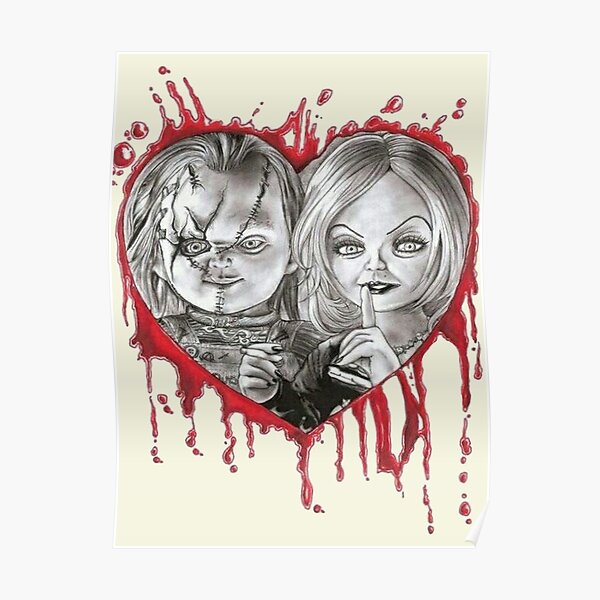 chucky and tiffany valentine's Poster