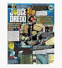 Judge Dredd Infographic Photographic Print