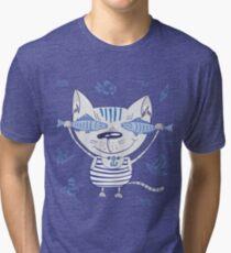 Sea cat illustration  Tri-blend T-Shirt