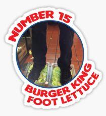 Number 15 Burger King Foot Lettuce Sticker