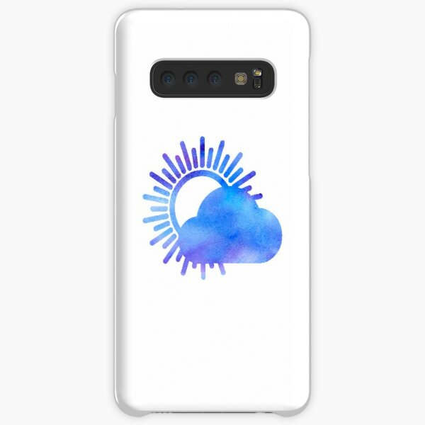 WITH CONFIDENCE - Better Weather Logo Watercolor Samsung Galaxy Snap Case