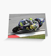 Valentino Rossi Yamaha MotoGP Greeting Card