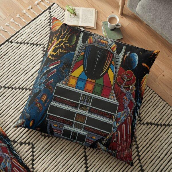 Pinbot Backbox Art Floor Pillow