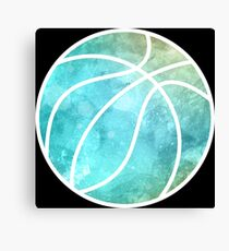 Basketball Multicolored Canvas Print