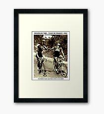 Lámina enmarcada TOUR de FRANCIA: Vintage 1952 Bartali y Coppi Print