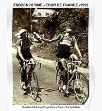 TOUR de FRANCE : Vintage 1952 Bartali and Coppi Print Poster