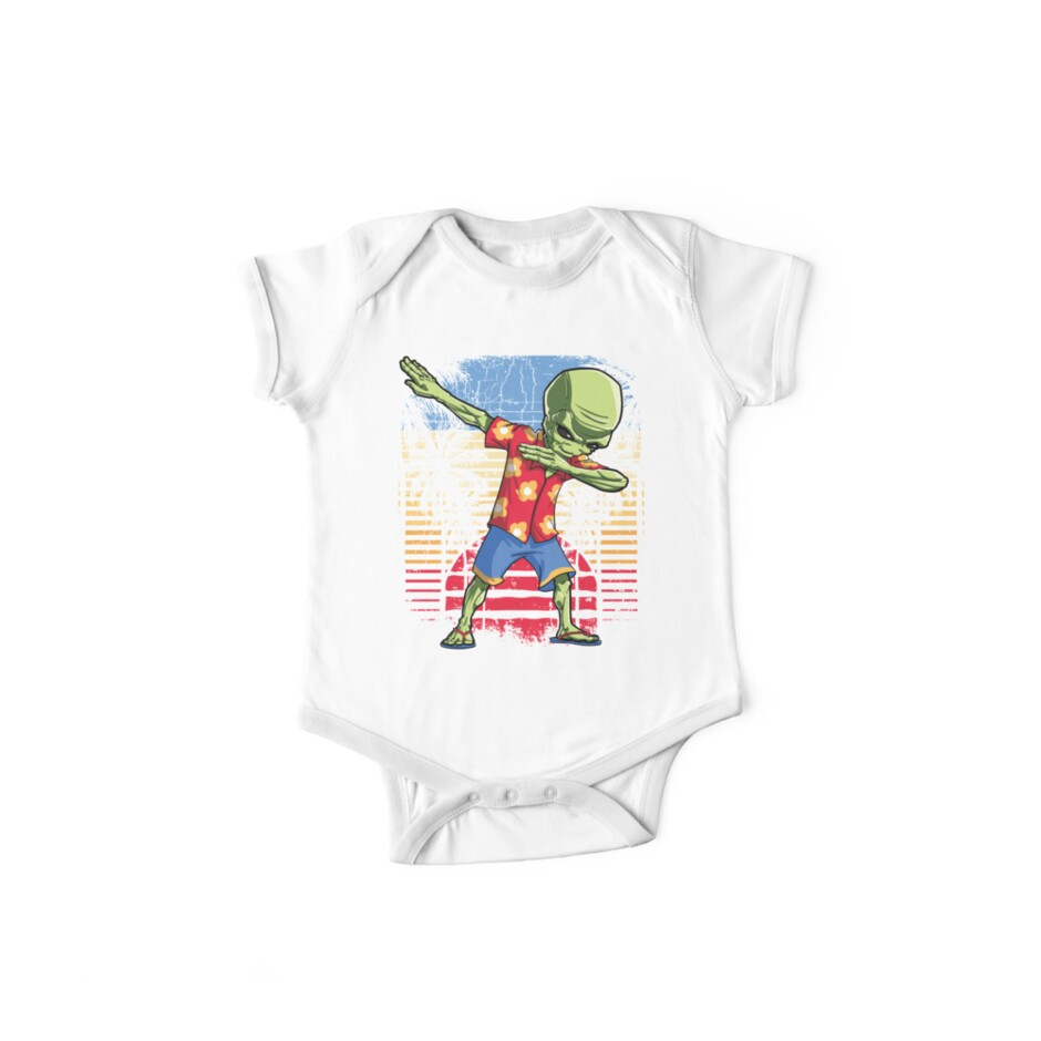 eb664aacf07a Dabbing Alien Hawaiian T Shirt Hawaii Summer UFO Beach Surf