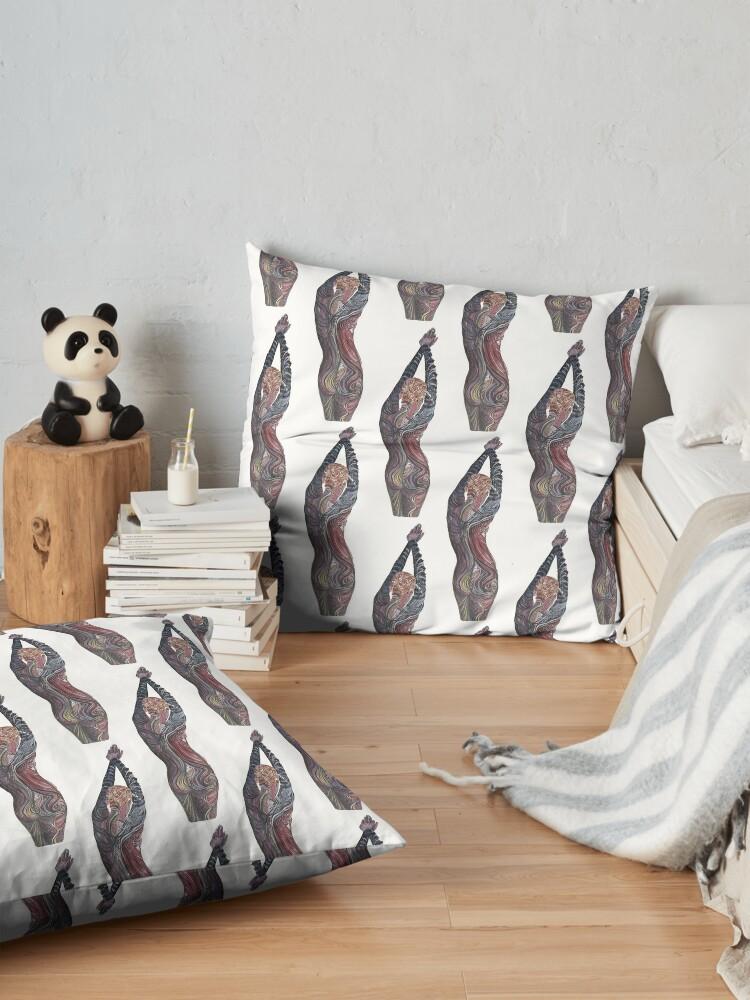 Alternate view of Tatoo Lady Floor Pillow