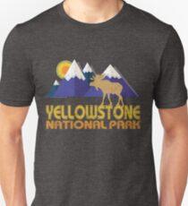 Yellowstone National Park Moose Mountain Landscape Unisex T-Shirt