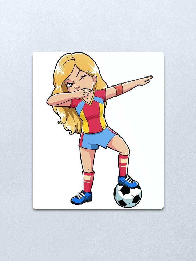 American Dab Dance Football Dabbing Skeleton USA Soccer