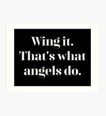 Flügel es Kunstdruck