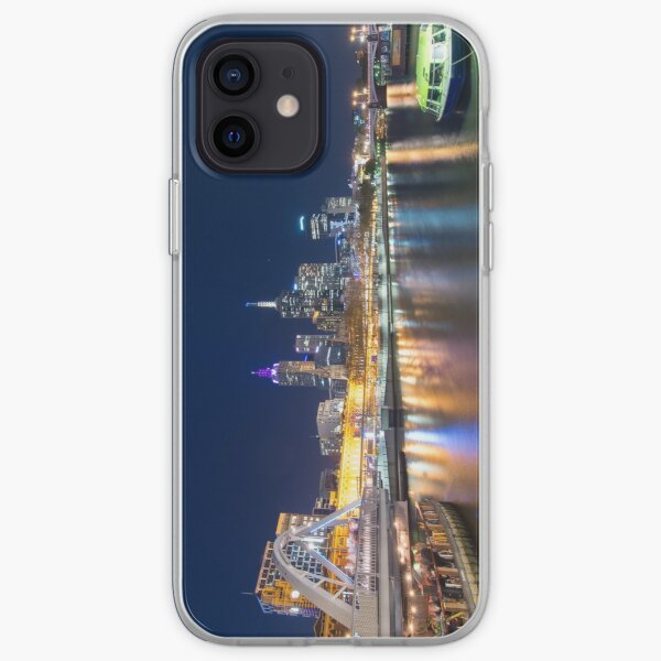 Yarra River at night iPhone Soft Case