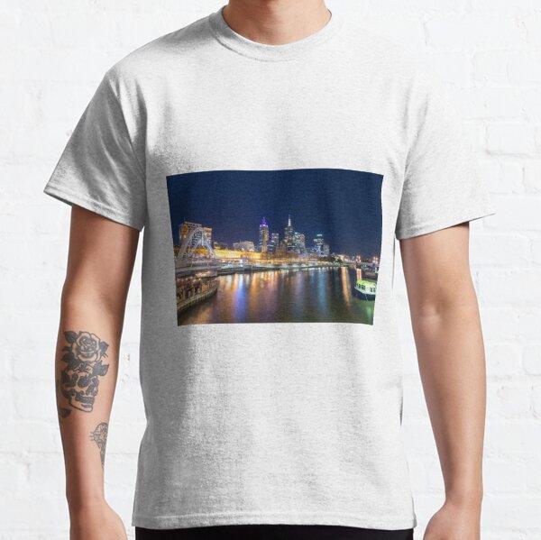 Yarra River at night Classic T-Shirt