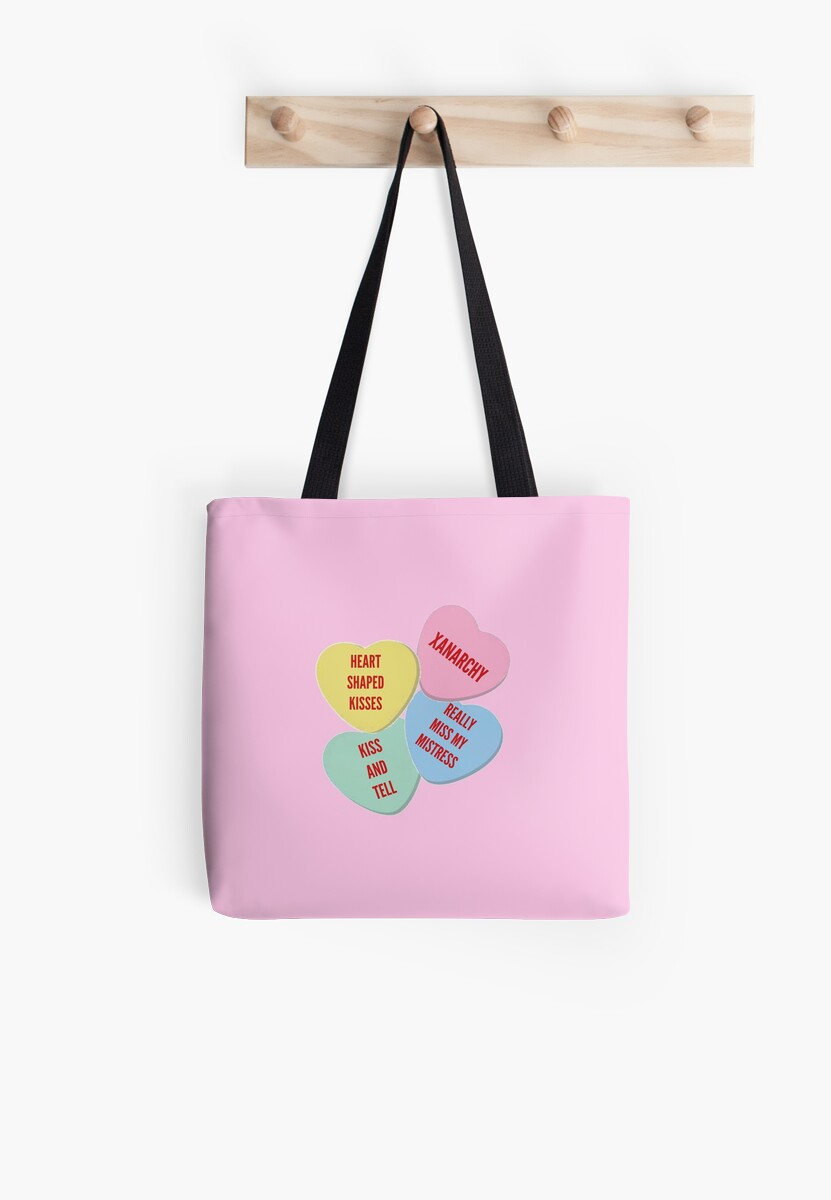 Knock Off Lil Xan Valentine S Day Merch Tote Bags By Lenag56