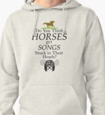 Do You Think Horses Get Songs Stuck In Their Heads? - Tina Belcher Pullover Hoodie