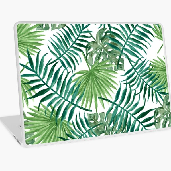 Tropical Palm Fronds and Ferns Laptop Skin