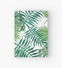 Tropical Palm Fronds and Ferns Hardcover Journal