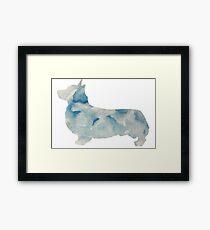 Watercolor Pembroke Welsh Corgi Framed Print