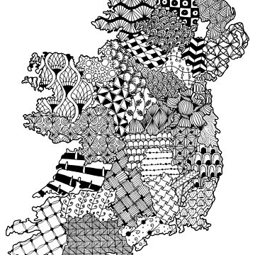 Ireland Doodle Map (for light backgrounds) by honeythief