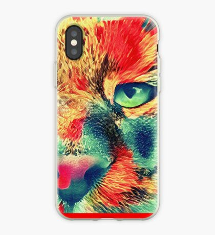 Artificial neural style wild cat iPhone Case