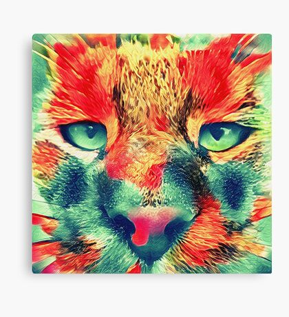 Artificial neural style wild cat Canvas Print