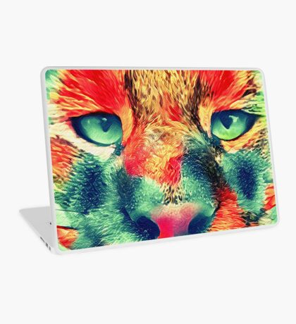 Artificial neural style wild cat Laptop Skin