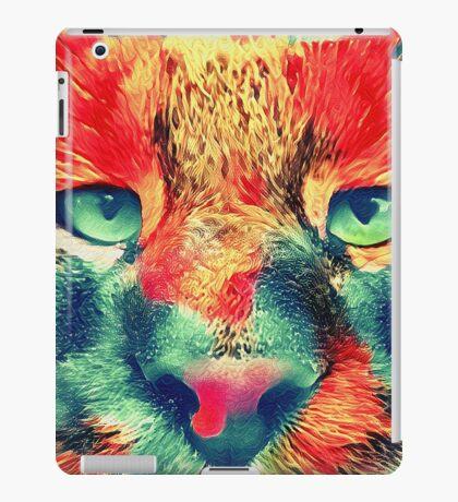 Artificial neural style wild cat iPad Case/Skin
