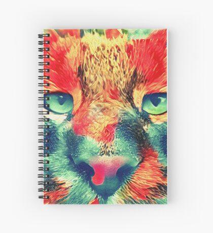 Artificial neural style wild cat Spiral Notebook