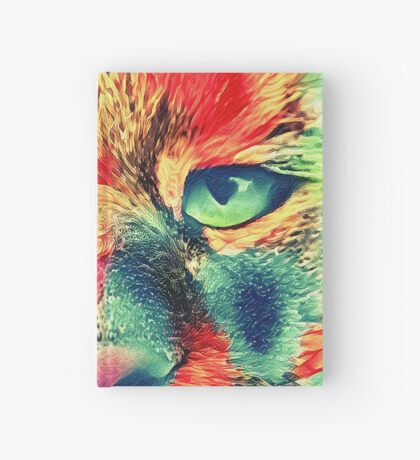 Artificial neural style wild cat Hardcover Journal