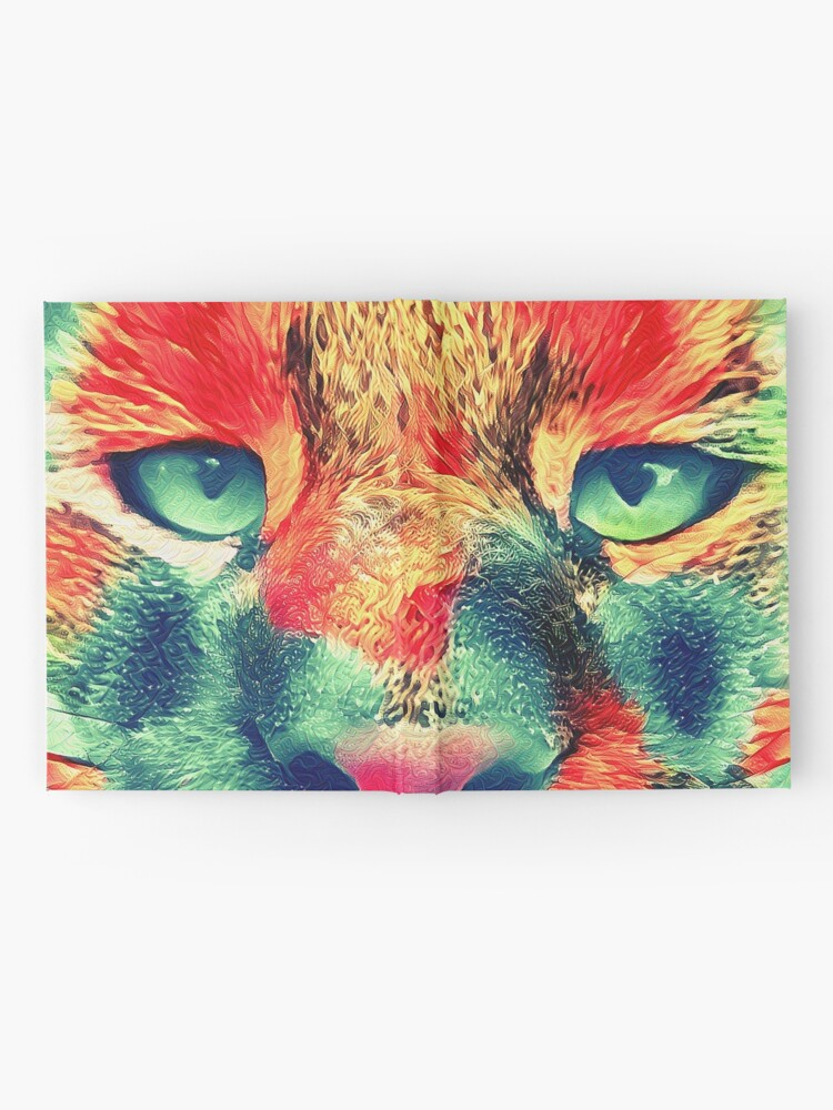 Alternate view of Artificial neural style wild cat Hardcover Journal
