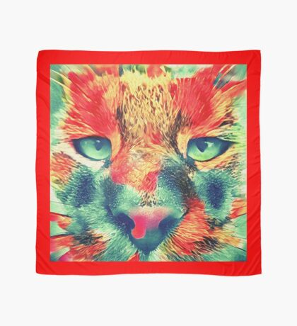 Artificial neural style wild cat Scarf