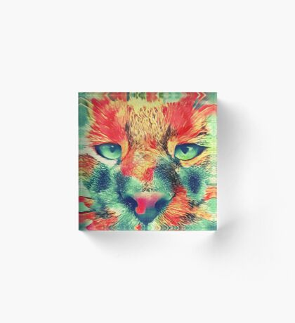 Artificial neural style wild cat Acrylic Block