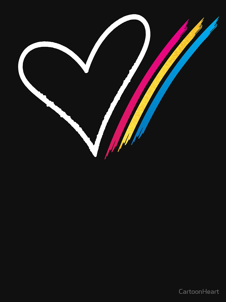 Heart Stripe - T-Shirt by CartoonHeart