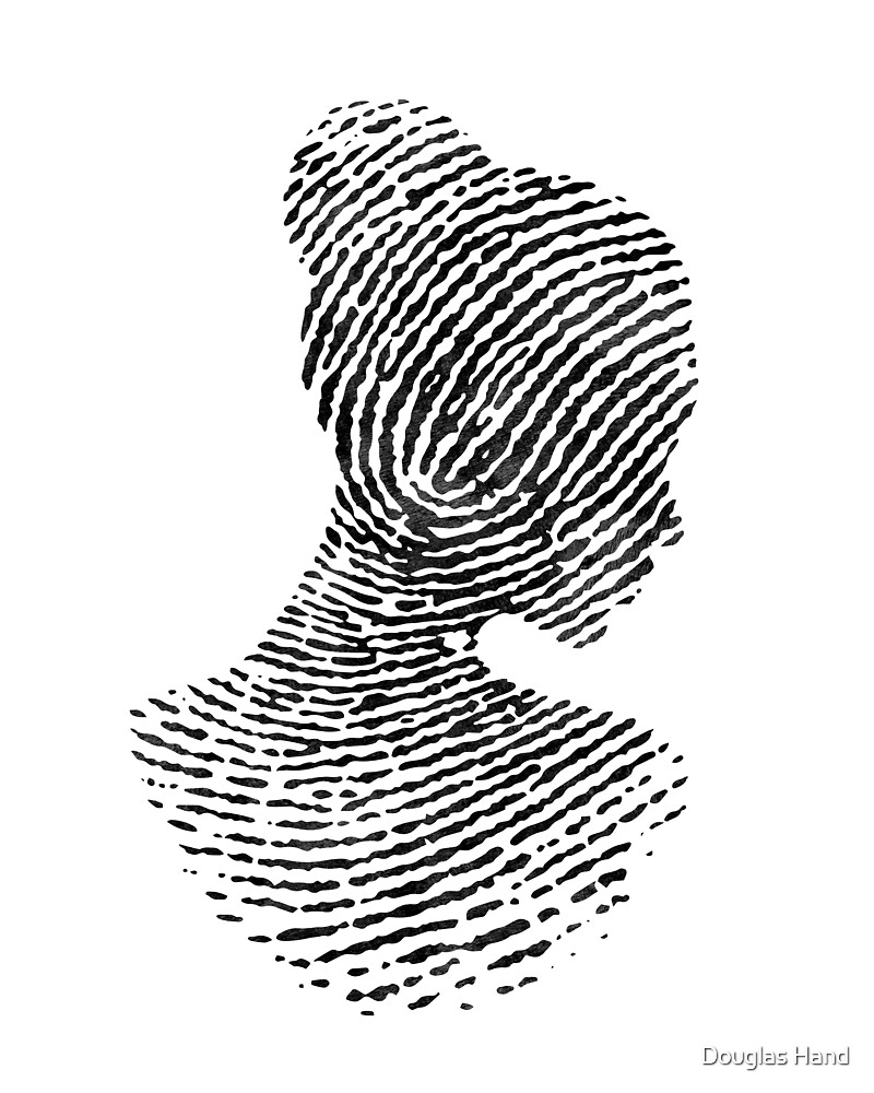 Fingerprint Portrait by Douglas Hand