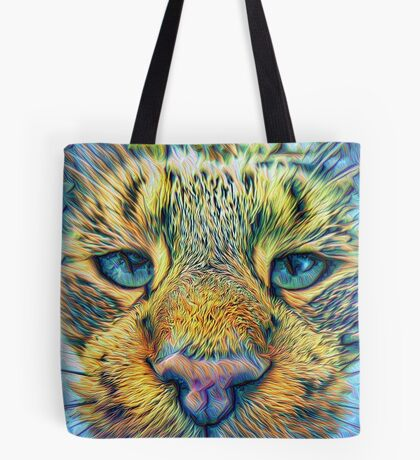 #DeepDreamed Cat v1449127170 Tote Bag