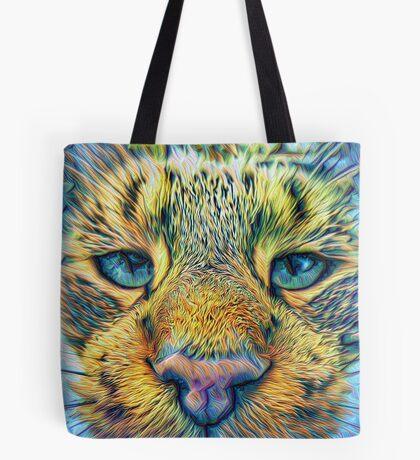 #DeepDreamed Cat v1449127170 Tote Bag