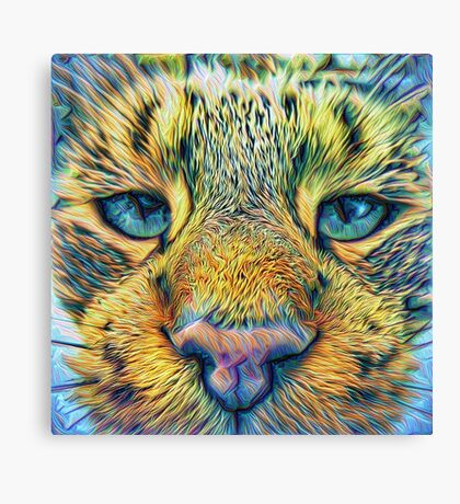 #DeepDreamed Cat v1449127170 Canvas Print