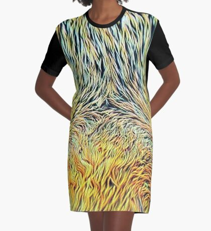 #DeepDreamed Cat v1449127170 Graphic T-Shirt Dress