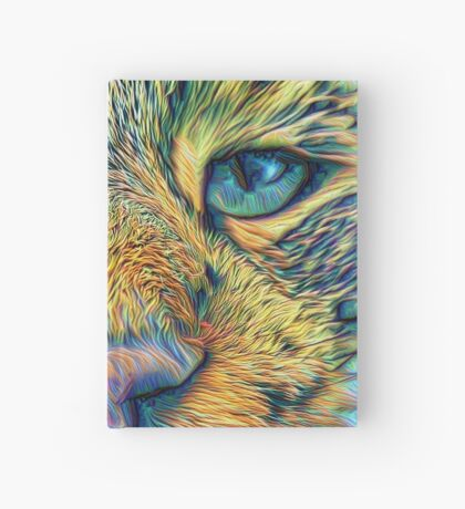 #DeepDreamed Cat v1449127170 Hardcover Journal