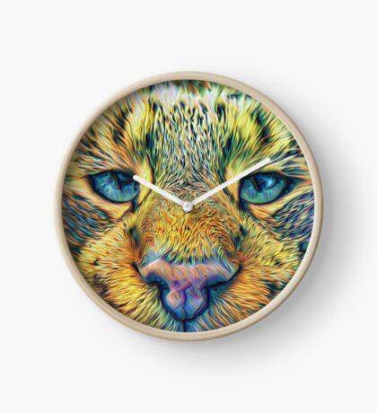 #DeepDreamed Cat v1449127170 Clock