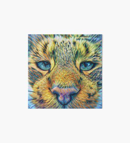 #DeepDreamed Cat v1449127170 Art Board Print