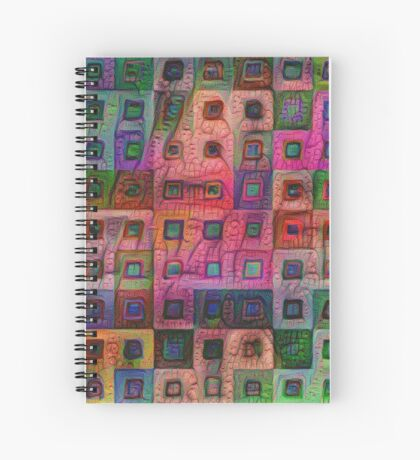 Autumn #DeepDream A Spiral Notebook