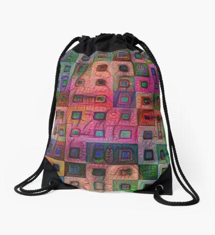 Autumn #DeepDream A Drawstring Bag