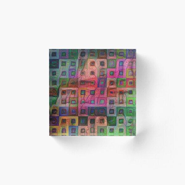 Autumn #DeepDream A Acrylic Block